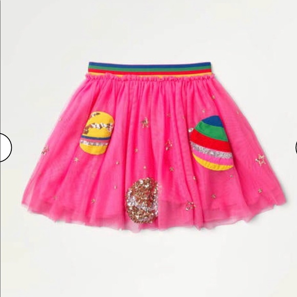 NWT mini boden Sequin Appliqué Tulle Skirt
